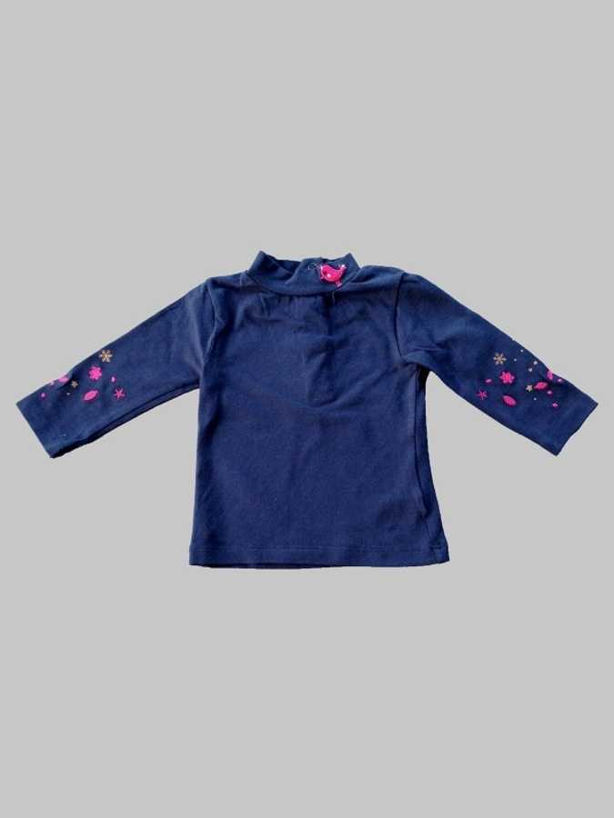 Tee shirt manches longues fille 3 mois <br> DPAM 0