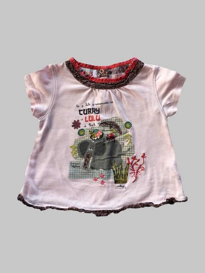Tee shirt fille 12 mois <br> COMPAGNIE DES PETITS 0