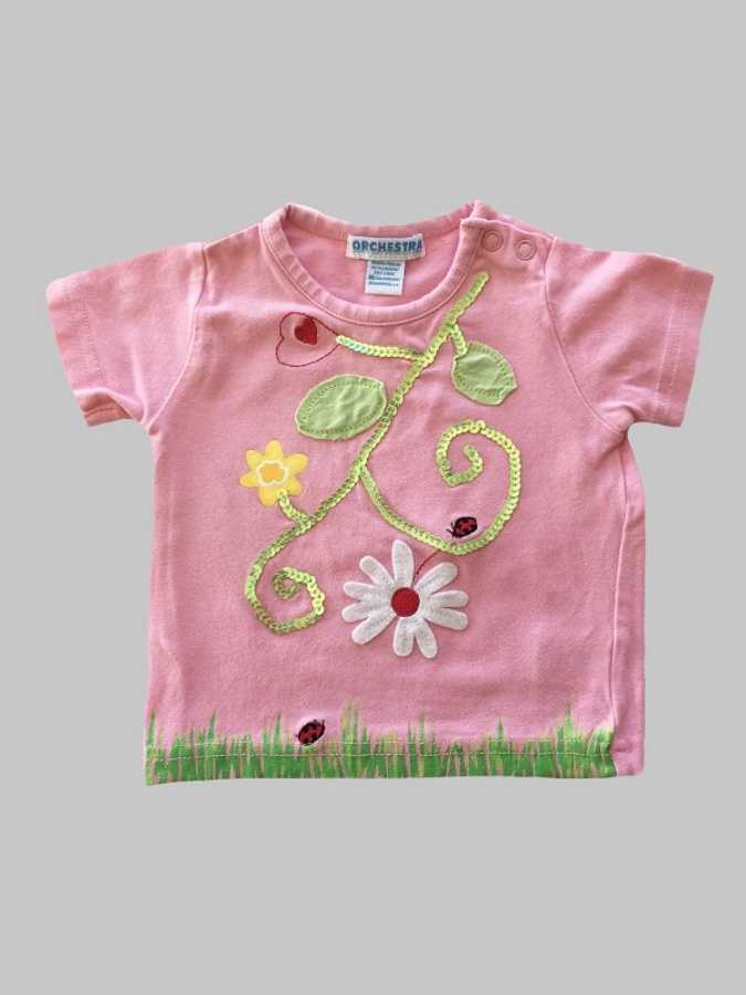 Tee shirt fille 6 mois <br> ORCHESTRA 0