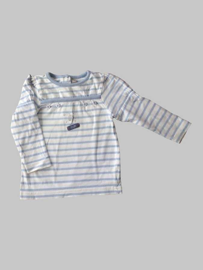 Tee shirt manches longues fille 6 mois <br> ORCHESTRA 0