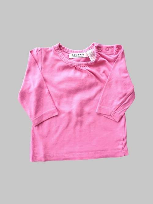 Tee shirt ML fille 3 mois <br> COCOON