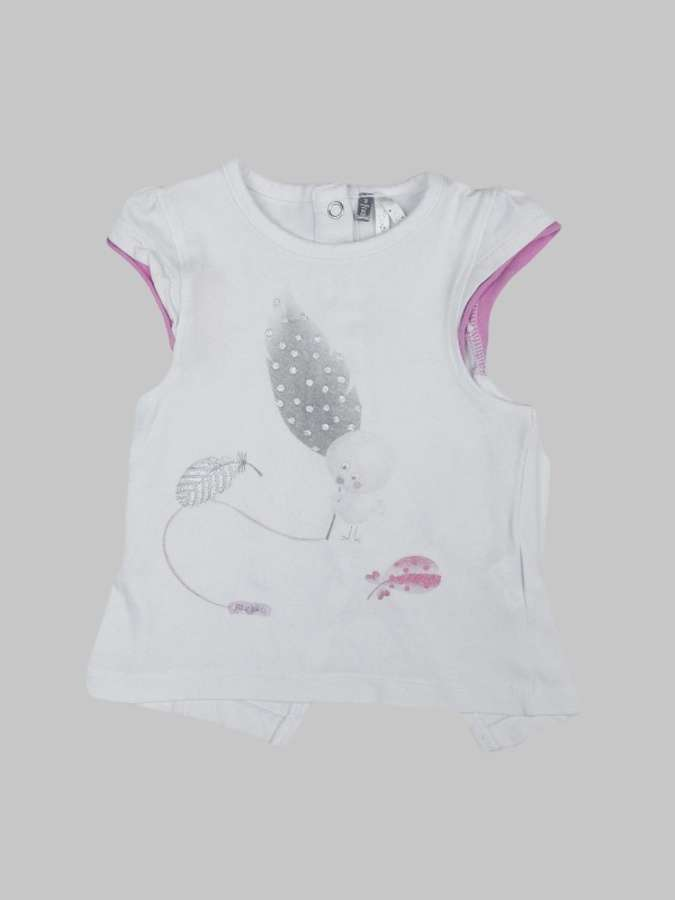 Tee shirt fille 3 mois <br> ORCHESTRA 0