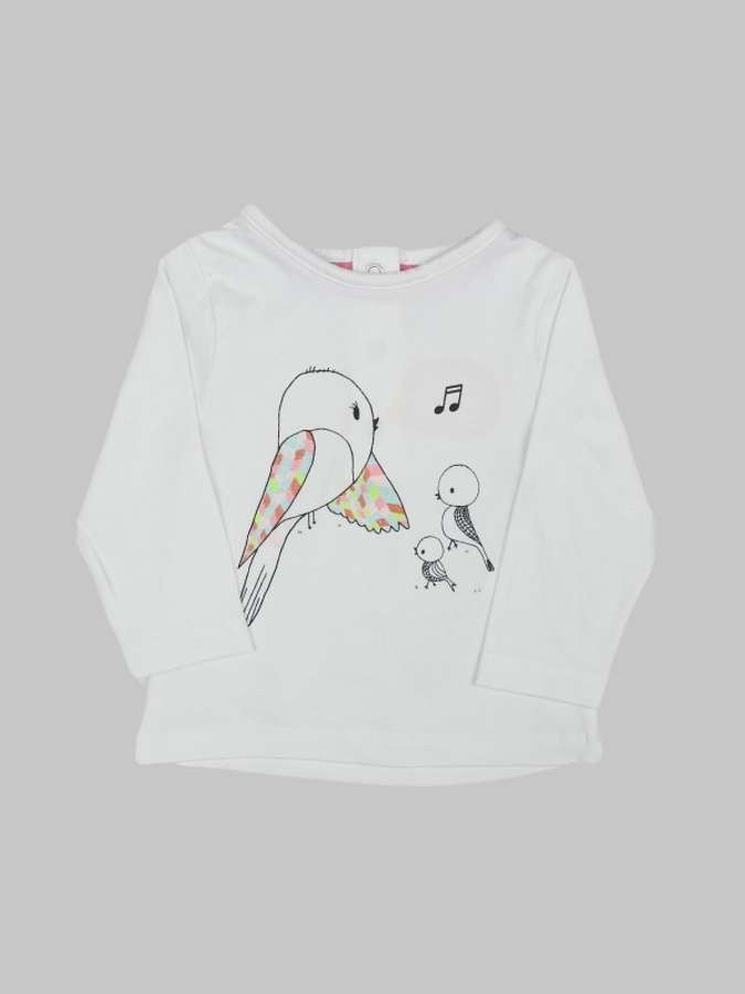 Tee shirt ML fille 3 mois <br> ORCHESTRA 0