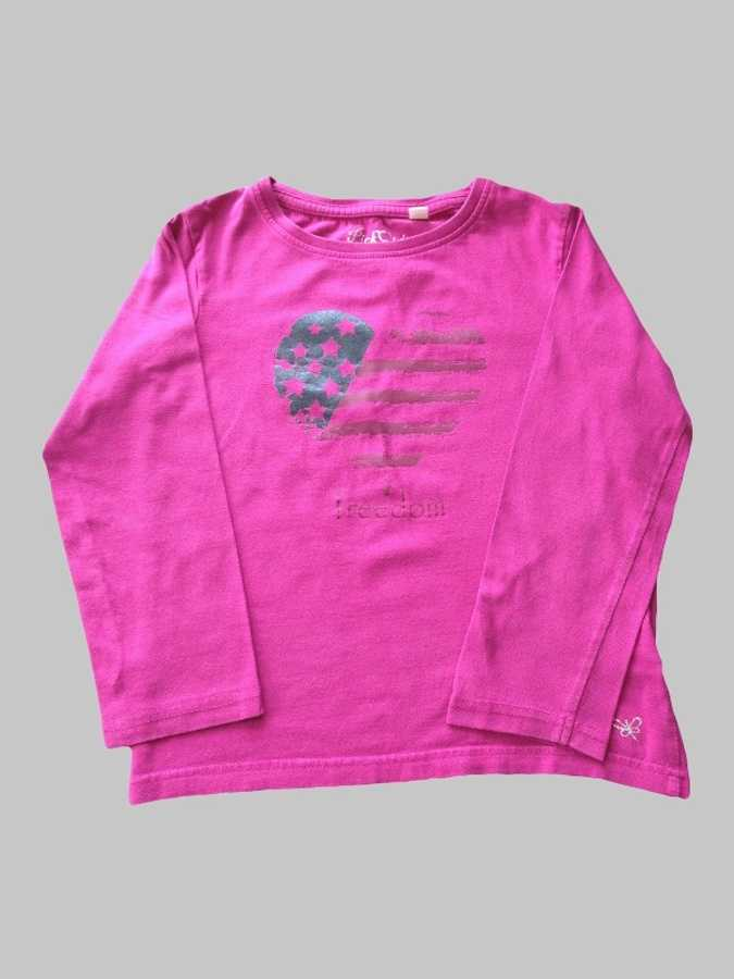 Tee shirt ML fille 8 ans <br> PICK OUIC 0