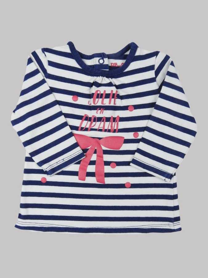 Tee shirt manches longues fille 6 mois <br> DPAM 0