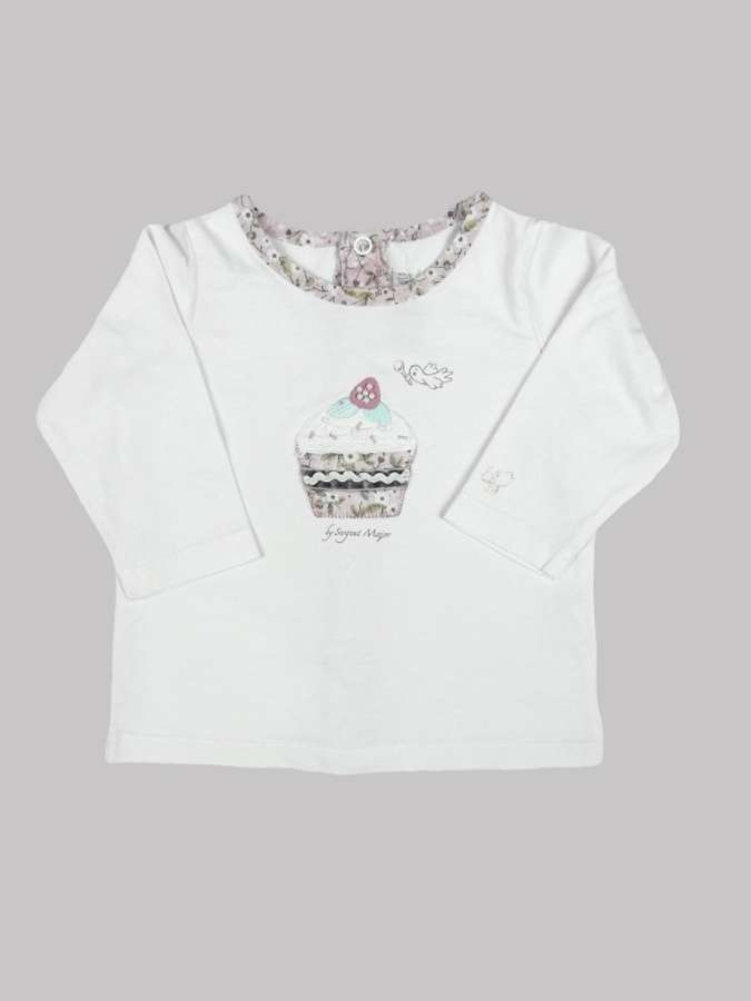 Tee shirt manches longues fille 6 mois <br> SERGENT MAJOR 0
