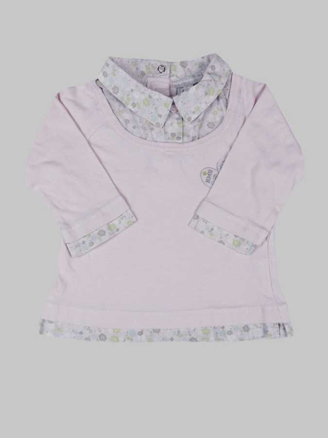 Tee shirt manches longues fille 12 mois <br> KIMBALOO 0