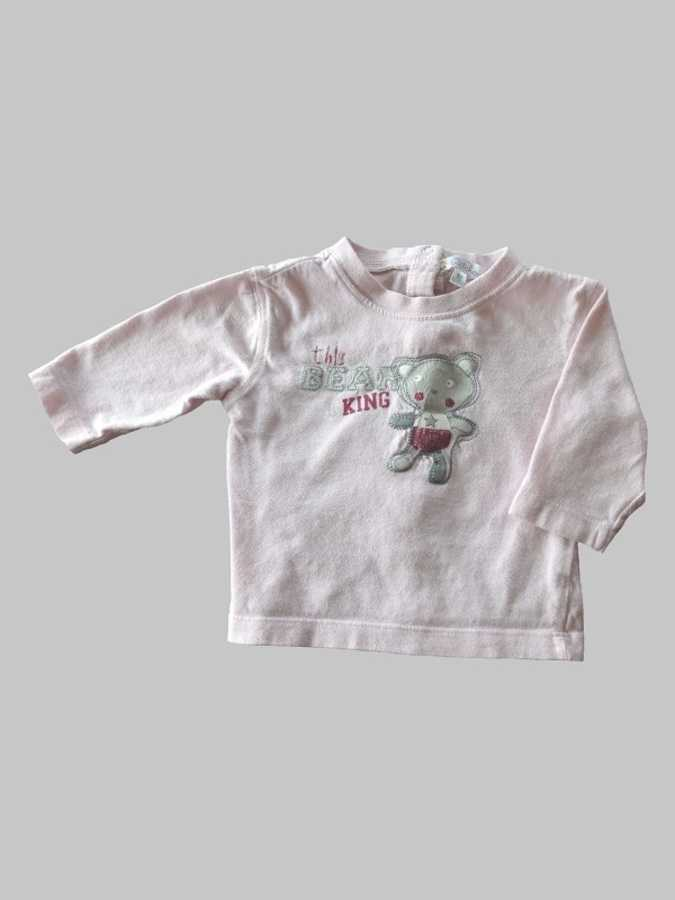 Tee shirt manches longues fille 3 mois <br> KITCHOUN 0