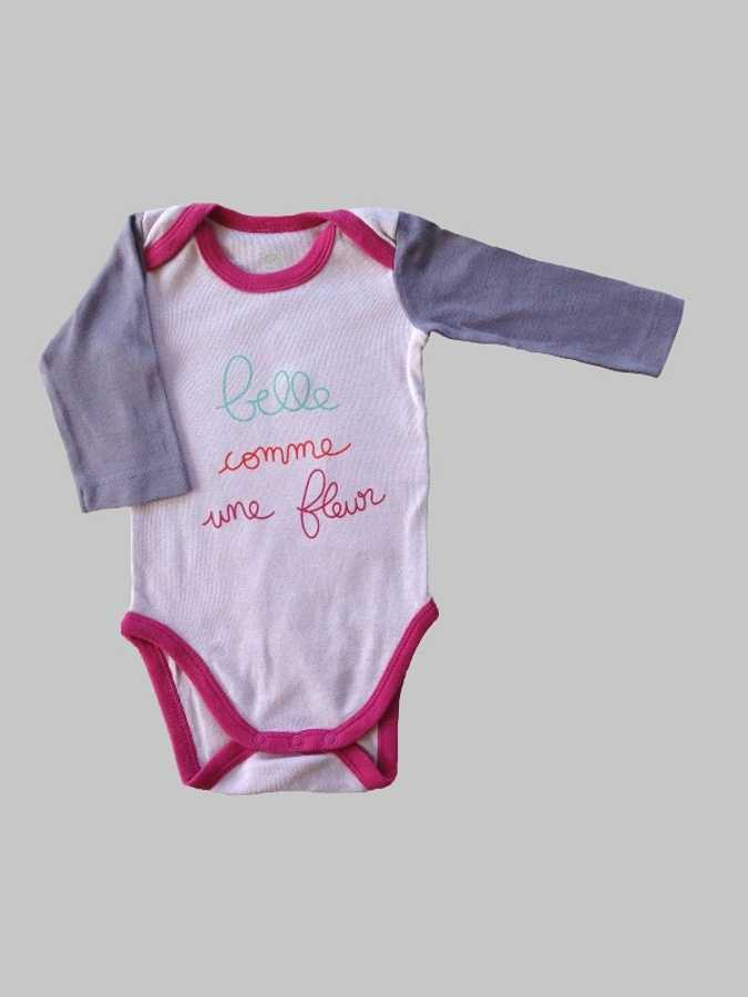 Body manches longues fille 3 mois <br> TEX 0