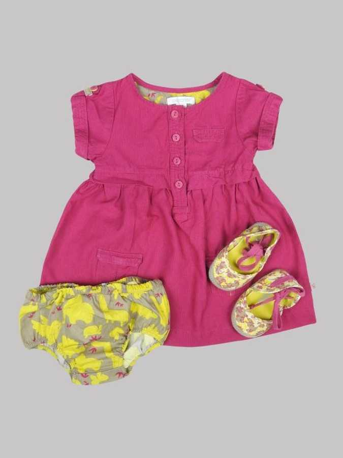 Robe/Bloomer/Shoes fille 6 mois <br> OBAÏBI 0