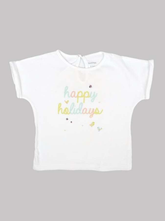 Tee shirt fille 6 mois <br> BOUT'CHOU 0