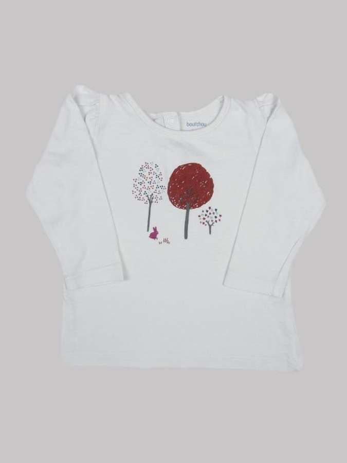 Tee shirt ML fille 6 mois <br> BOUT'CHOU 0